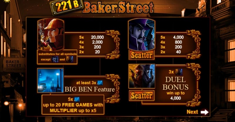221b Baker Streat preview features