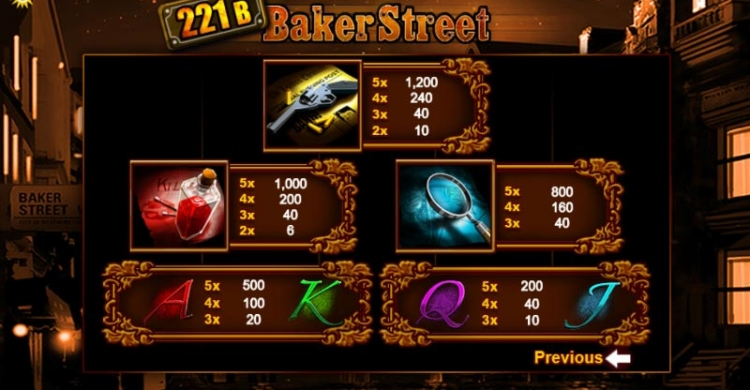 221b Baker Streat preview payouts