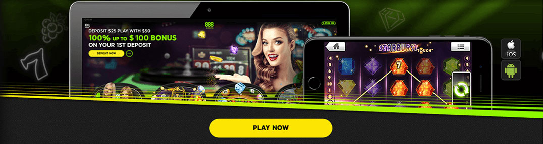 888 Casino mobile bonus