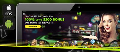 888 Casino mobile devices