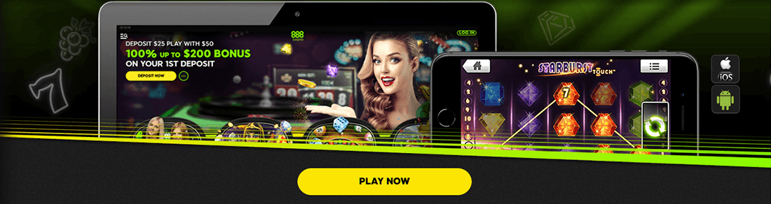 Play on mobile at 888 Casino