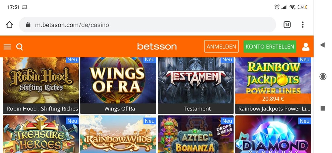 Casino Betsson Mobile