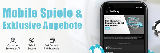 betway mobile exklusive Angebote