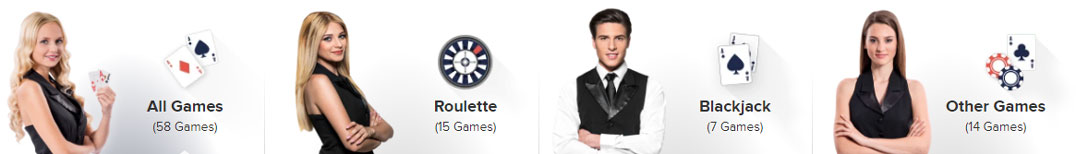 Casino Euro live games overview