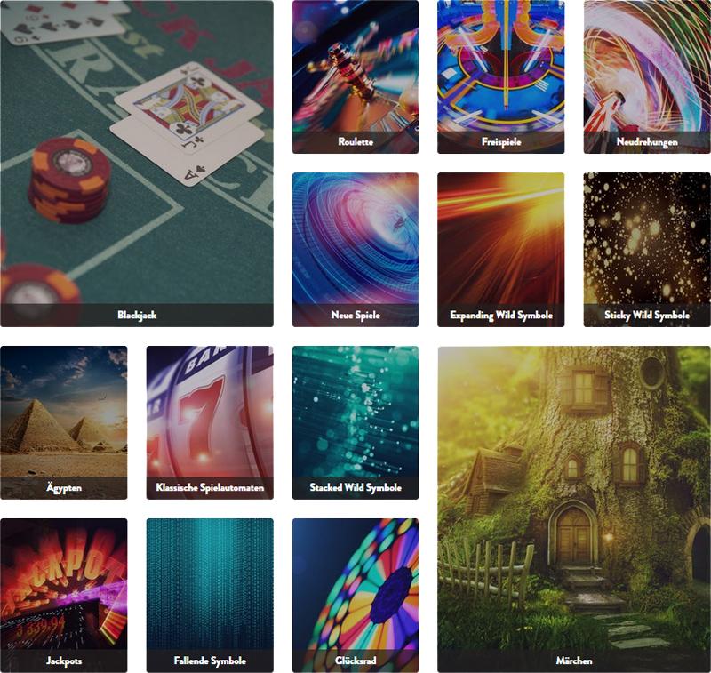 Casino Spiele Auswahl