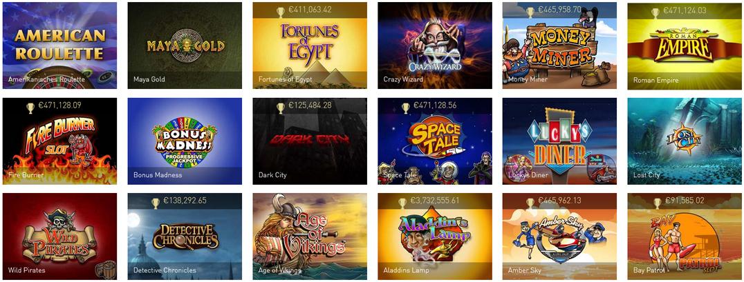 casinoclub mobile games