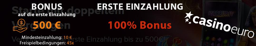 CasinoEuro Bonus Infos
