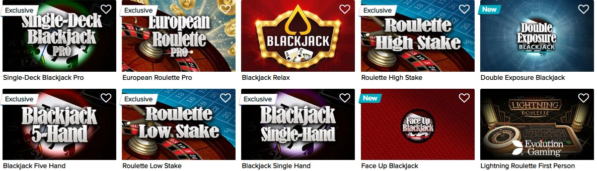 CasinoEuro classic games