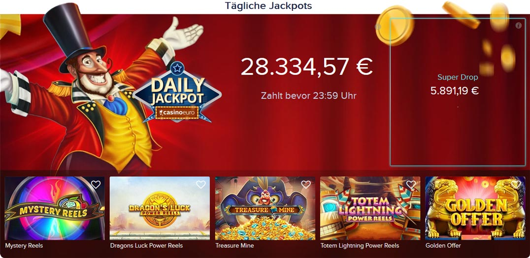 CasinoEuro Jackpots