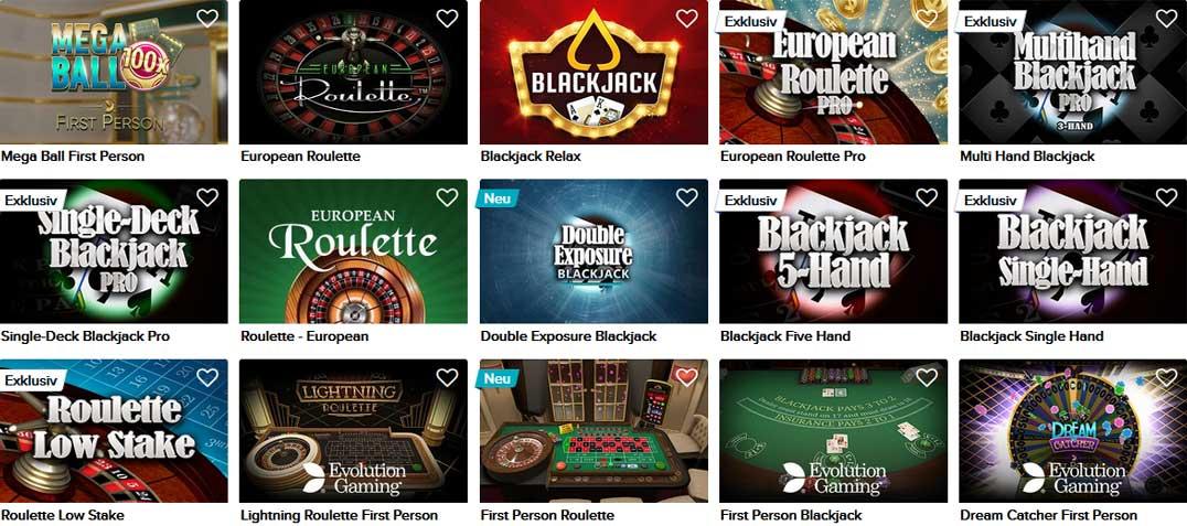CasinoEuro klassische Spiele