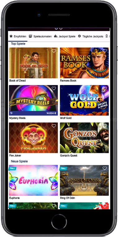 CasinoEuro mobile Games