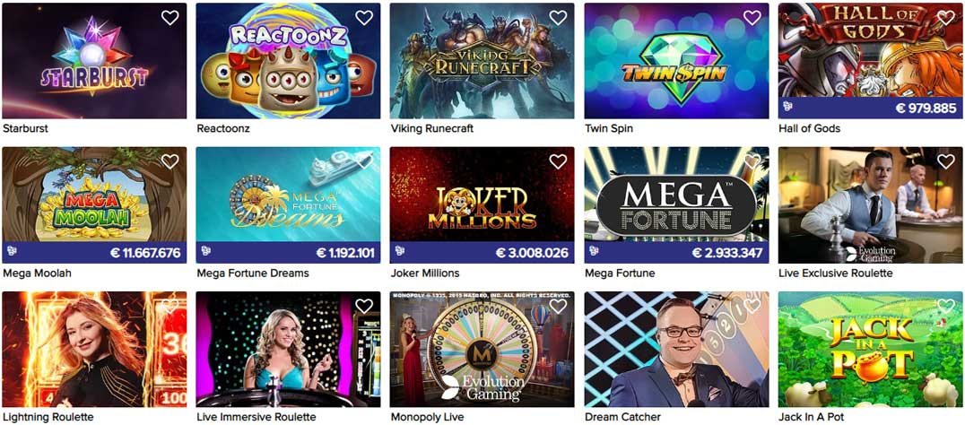 CasinoEuro popular games