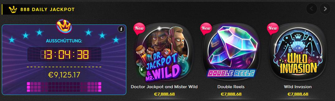 888 Casino Daily Jackpot