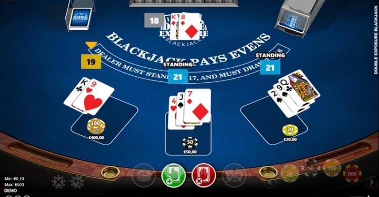 double exposure blackjack game