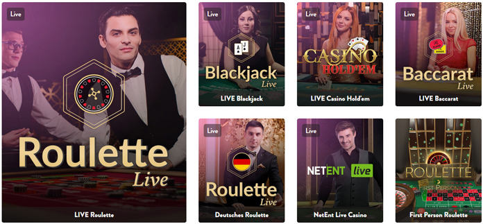dunder live casino