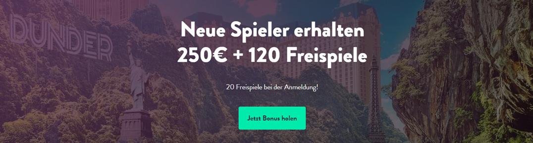 Dunder Mobile Bonus Banner