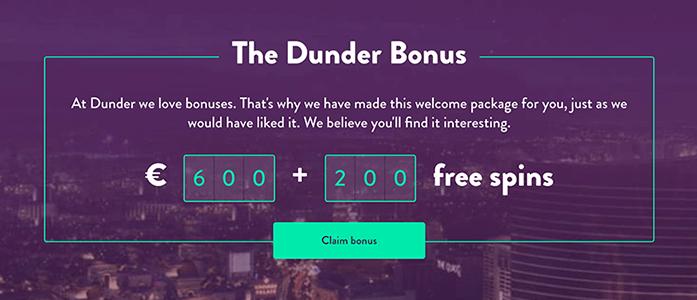 Dunder Bonus Banner