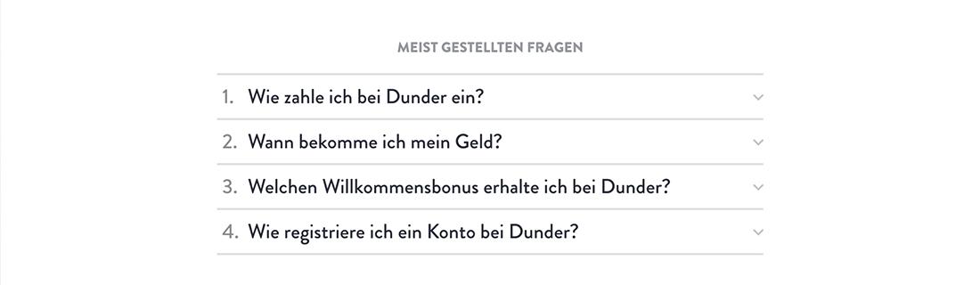 Dunder FAQs Banner