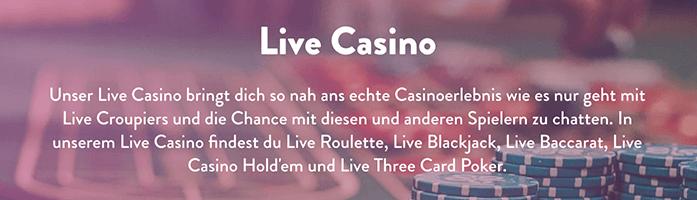 Dunder Live Casino Banner