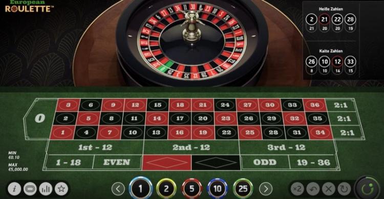European Roulette Vorschau Spiel