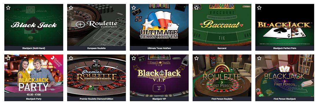Guts Casino Tisch-Spiele