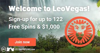 Get 122 Free Spins & $1,000