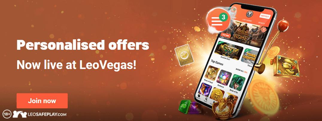 Leo Vegas Bonus mobile