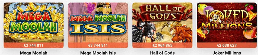 Leo Vegas Jackpot Games