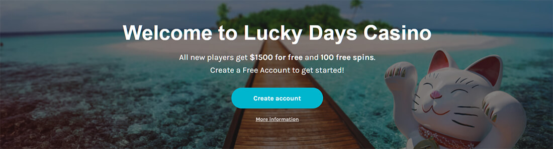 Welcome to Lucky Days - Create an Account