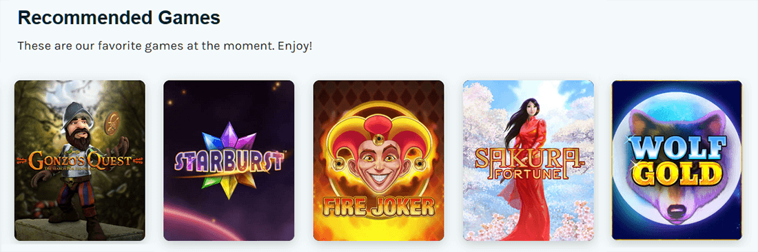 Lucky Days Recommended Games