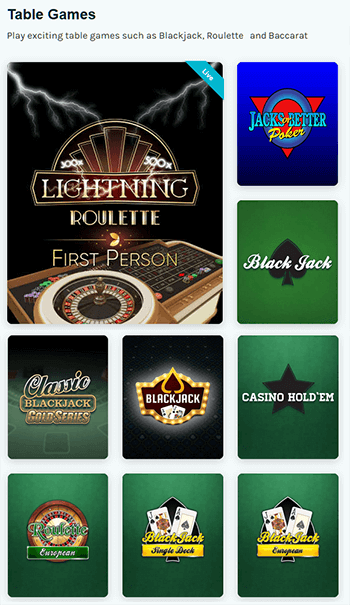 Play Classical Casino Games