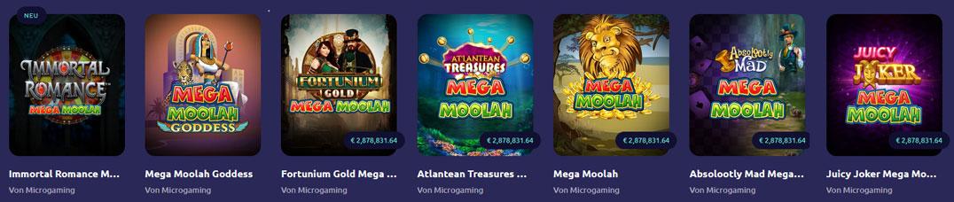 Mega Moolah Jackpot Slots