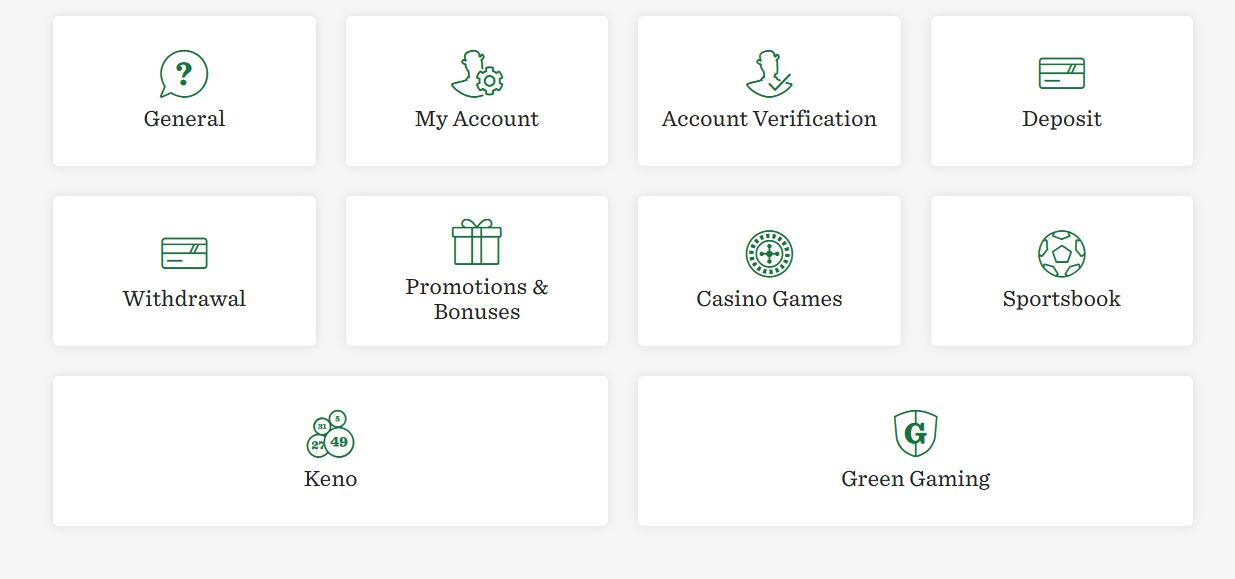 Mr Green Casino FAQ