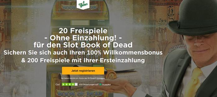 Mr Green Casino Bonus Banner