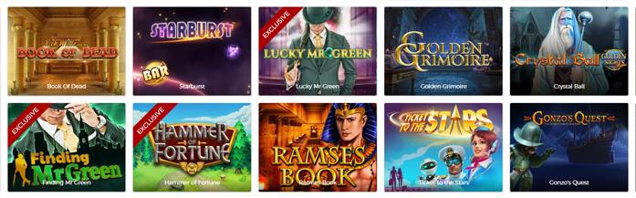 Mr Green Casino Spiele