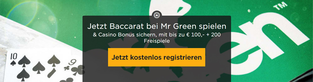 MrGreen Baccarat Banner