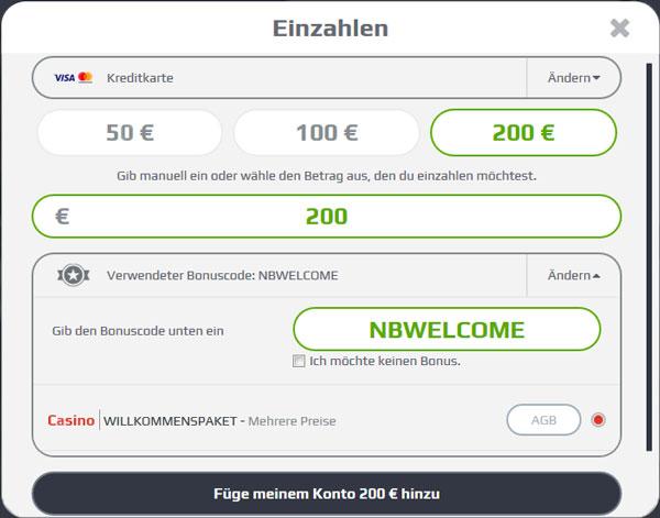 NetBet Casino einzahlen