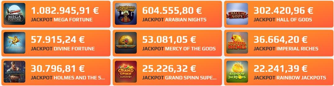 NetBet Jackpot Spiele