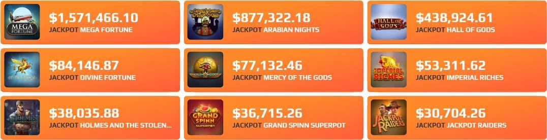 NetBet Jackpots