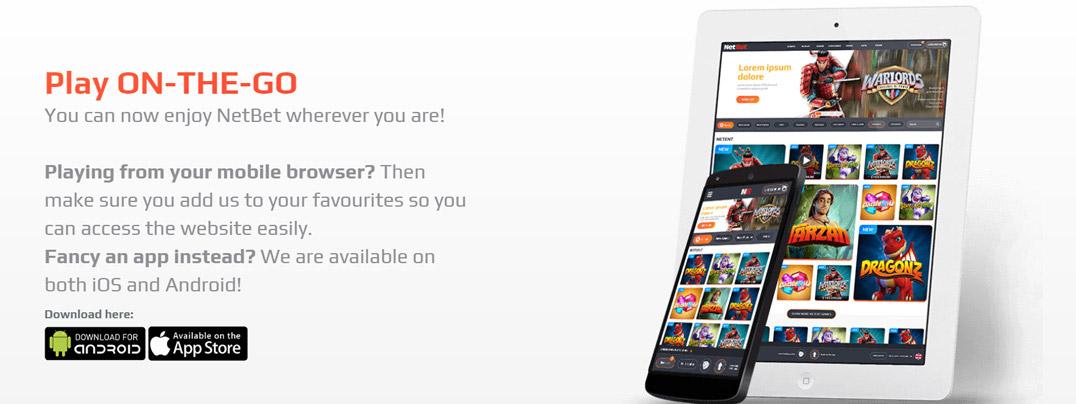 NetBet mobile apps