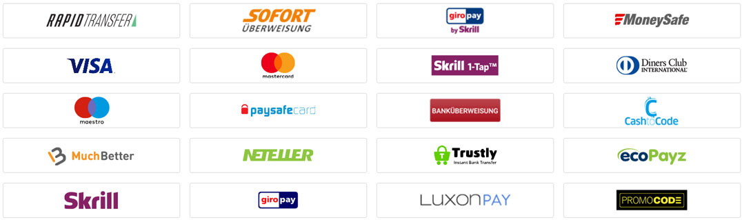 Party Casino Payment Options