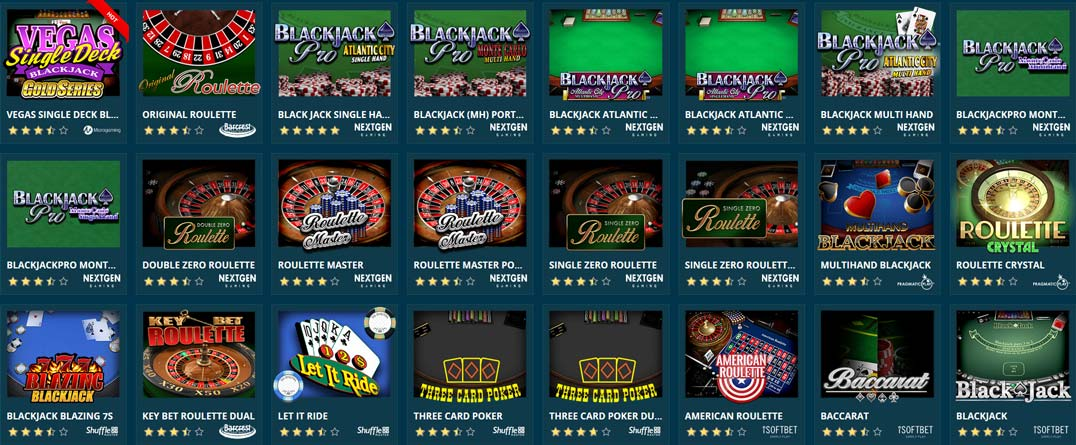 Platin Casino Classic Games