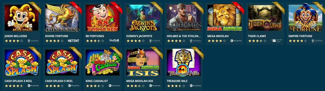 Platincasino Jackpot Games