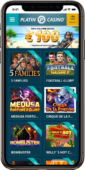 Platincasino mobile site