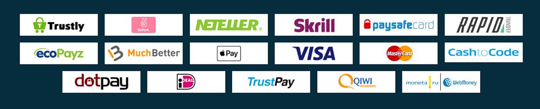 Platincasino Zahlungsmethoden