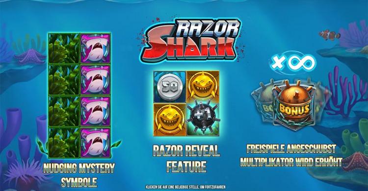 Vorschaubild der Bonus Funktionen in Razor Shark