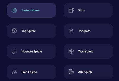 Spinaway Casino Spielkategorien