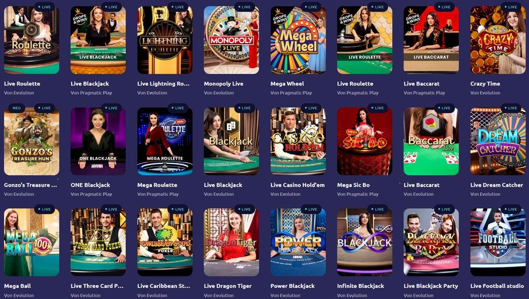 Spinaway Live Casino Vorschau