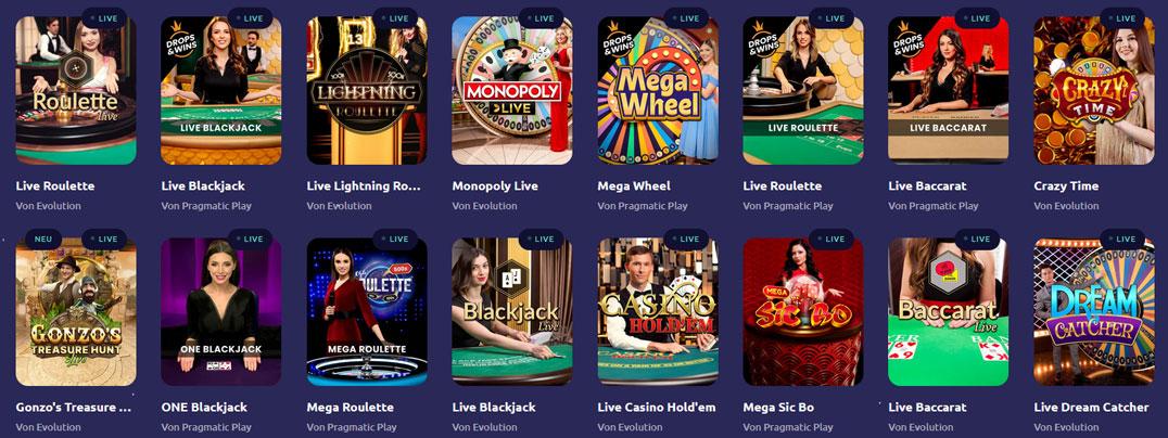 Spinaway Live Casino Spiele