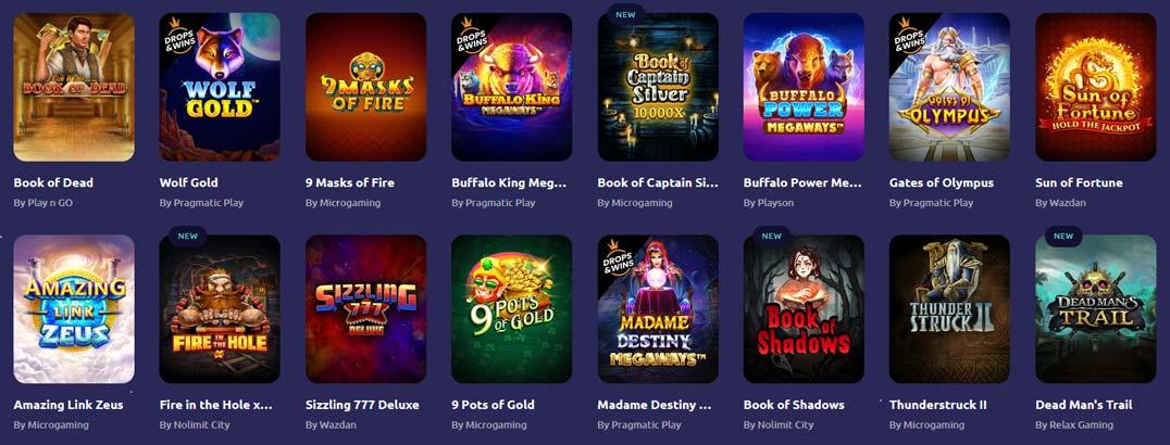 Spinaway Top Games
